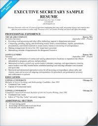 Secretary Resume Examples Fresh Resumes Information