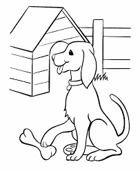 Pet Dog Coloring Pages Free Printable And His Bone Featuring Hundreds Of Fun