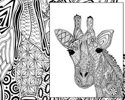 Abstract Giraffe Coloring Pages