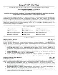 Sample Resume For Manufacturing