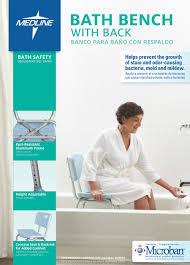 Bathtub Transfer Bench Amazon by Amazon Com Medline Bath Bench With Back Microban Health