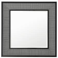 casa padrino wohnzimmer spiegel in schwarz weiß 100 x h 100 cm luxus wandspiegel barockgroßhandel de