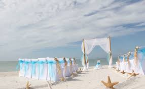 Starfish Themed Florida Beach Wedding Vow Renewal Elopement Commitment Ceremony