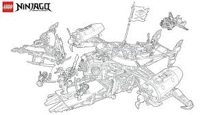 Ninjago Dragon Coloring Pages Four Headed