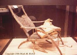 one of titanic u0027s deck chairs recovered by the cable ship mackay