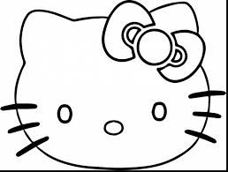 Wonderful Hello Kitty Face Coloring Pages With Gorilla