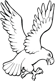 Free American Eagle Coloring Page Landing Bald Pages Printable Harpy