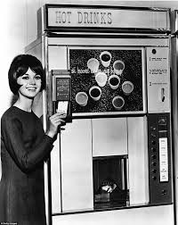 This Woman Is Now Able To Use A Credit Card Pay For One Of Selection Coffees From Self Serve Machine Ca 1960s