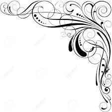 Corner Swirl Clip Art Medium Size
