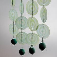 Beaded Curtain Made From Waxed Paper Circles