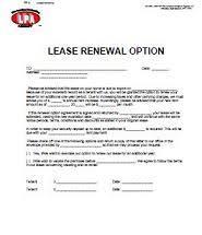 Lease Renewal Option & Expiration Notice