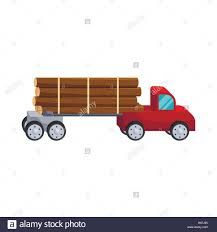 Logging Truck Logs Icon, Cartoon Style Stock Vector Art ...