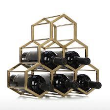 Best and cheap golden Honey b Wine Rack Metal Wine Holder