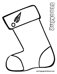 Christmas Stocking Picture At YesColoring