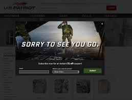 12 Unique And Effective Uses Of Website Pop Ups In ECommerce Us Patriot Tactical Coupon Coupon Mtm Special Ops Mens Black Patriot Chronograph With Ballistic Velcro 10 Off Us Tactical Coupons Promo Discount Codes Defense Altitude Code Aeropostale August 2018 Printable The Flashlight Mlb Free Shipping Brand Deals Good Deals And Teresting Find Thread Archive Page 2 Bullet Button Reloaded Mag Release Galls Gtac Pants Best Survival Gear Subscription Boxes Urban Tastebud