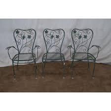 Salterini Iron Patio Furniture by Salterini Iron Grape Vine Patio Chairs Set Of 6 Chairish