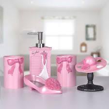 pink bath accessory sets ebay