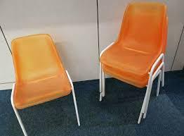 lüllmann designer stuhl modern orange transparent esszimmer ikea