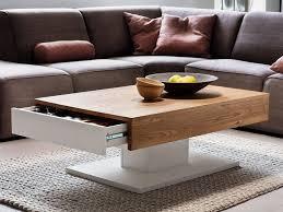 table basse design 2 tiroirs coulissants blanc laqué et bois lania