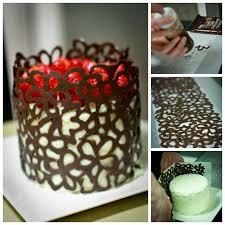 Creative Ideas DIY Lace Chocolate Cake Decoration