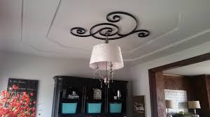 Small Two Piece Ceiling Medallions by Ceiling Medallion Repurpose