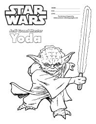 Star Wars Coloring Sheets For Kids Master Yoda