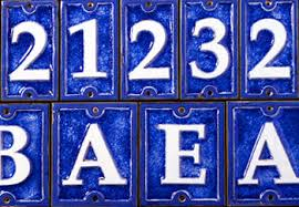 fuoriserie ecco ceramic and glass tiles 4 14 inch house numbers