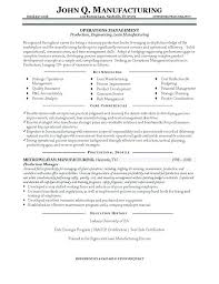 Manufacturing Manager Resume Project Example
