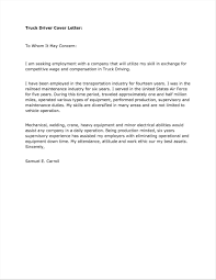 Cover Letter For Driving Job - Selo.l-ink.co
