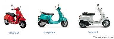 Piaggio Vespa LX Vs VX S 125 CC Scooters