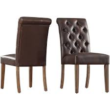 Upholstered Dining Chairs With Nailheads by Signal Hills Benchwright Tufted Rolled Back Parsons Chairs By Set