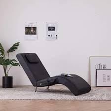festnight relaxliege mit kissen wohnzimmer liegesessel modern relaxsessel liegestuhl sofaliege polsterliege schwarz braun grau