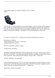 Calaméo - Cohesion XP 11.2 Gaming Chair Ottoman Review