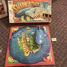 Shark Attack Board Game From Milton Bradley 1988 W Worn Box Read Description