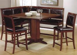Dining Tables Bar Height Table Tall Kitchen Brown Finished Of Wooden Square