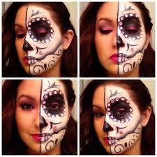 Halloween Half Mask Makeup by Theatrical Creative Anamary Valdesanamary Valdes