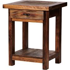 Fabulous Rustic Nightstands With 1 Drawer For Bed Side