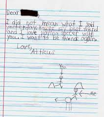 Kids and Apologies
