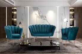casa padrino designer deco wohnzimmer 2er sofa türkis messingfarben 115 x 50 x h 80 cm deco wohnzimmer möbel