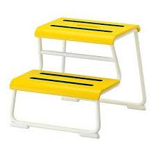 ikea glotten tritthocker in gelb badezimmer hocker sitz
