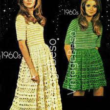 Ladies Dress Crochet Summer Wear For Vintage Pattern Party Also Lovely We