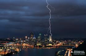Lightning Storm Over Pittsburgh