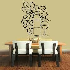 Wall Decals Wine Vinyl Sticker Grapes Decal Cafe Art Design Kitchen Decor KG754
