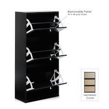 Baxton Simms Shoe Cabinet by Amazon Com Furinno Fnaj 11042 1 3 Door Shoe Storage Cabinet