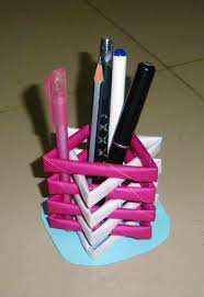 Penholder Rhyoutubecom How Creative Things To Do At Home With Paper Make A Pen Stand