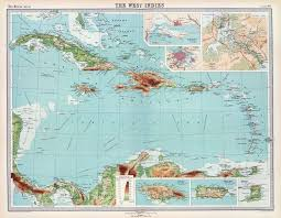 1922 Map Of West Indies