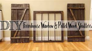 DIY* Pallet Wood Shutters With Matching Farmhouse Window - YouTube Top 10 Interior Window Shutter 2017 Ward Log Homes Decorative Mirror With Sliding Barn Style Wood Rustic Shutters Best 25 Barnwood Doors Ideas On Pinterest Barn 2 Reclaimed 14 X 37 Whitewashed 5500 Via Rustic Gallery Wall Fixer Upper Door Modern Small Country Cottage With Wooden In The Kapandate Eifler Entry Gate Porter Remodelaholic Build From Pallets Rustic Wood Wall Decor Roselawnlutheran Flower Sign Xl Distressed