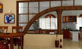 Kitchen Divider Decor Wooden Dining Room Set And Half Wall With Ideas
