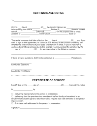 Free Rent Increase Letter Template with Sample PDF