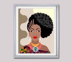 Black Queen African American Woman Girls Art Rock
